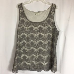 Banana republic lace top xl